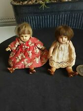 Two Antique / vintage miniature doll,Celluloid  dolls house toy doll 4 inch .