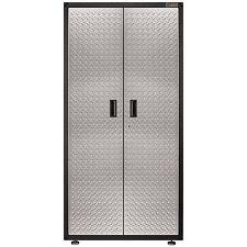 "New Large 4 Steel Shelves Storage Cabinet 72"" x 36"" Supplies Tools Garage Lockin"