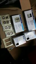 Lot of Leviton Electrical Outlets Covers Switches Ivory Tan Beige Almond