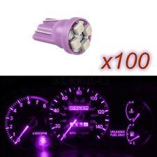 100XT10 Bright Purple 4-Led Odometer Light Bulbs 194 2825 921 168 3528 SMD