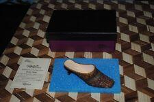 "Just the Right Shoe Pretty Penny #25105 Brown Copper Raine 4"" 2000 Willitts Box"