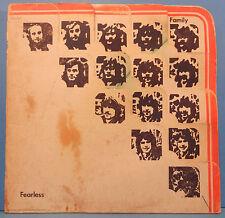 FAMILY FEARLESS VINYL LP 1971 ORIGINAL PRESS PROG PSYCH PLAYS GREAT! VG+/G+!!
