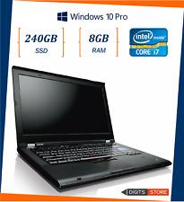 """pc portatile notebook usato ricondizionato 14"""" RAM 8GB SSD 240GB Lenovo T420s i7"""