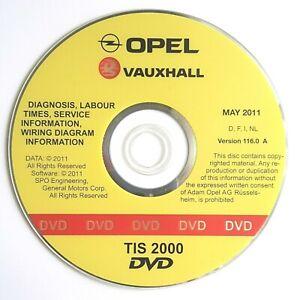 Opel TIS 2000 Mai 2011 / Version 116.0 A Werkstatt CD