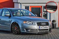Spoilerschwert Frontspoiler Lippe aus ABS für Audi A4 B7 ABE schwarz glänzend