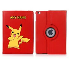 Pikachu Pokemon Name Personalised iPad 360 Rotating Case Cover Birthday Present