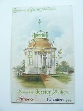 Perrier Table Water Advertising Postcard - Franco British Exhibition  - Shelcott