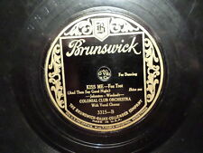 BRUNSWICK 78 RECORD 3315/COLONIAL CLUB/ NEW MOON/ KISS ME/ VG JAZZ