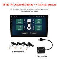 TPMS USB Android Display Car Tire Pressure Monitoring System Internal Sensors