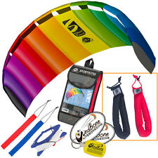 HQ Symphony Beach III 1.8 Kite Rainbow Foil Power + Plus Padded HD Wrist Straps