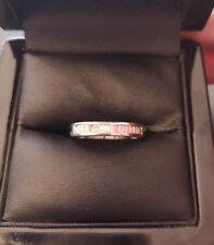 ***REDUCED*** Ladies 18ct Gold Baguette Cut Diamond Half Eternity Ring - Size L