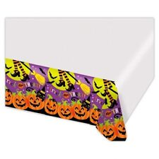 "Witch's Crew Plastic Table Cover, 54"" x 102"" NIP"
