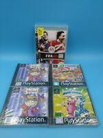 jeu video alot de 4 jeux neuf sony playstation 1 / boites cassée