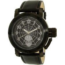 Disney Spider-Man SPM149 Black Leather Men's Quartz Watch