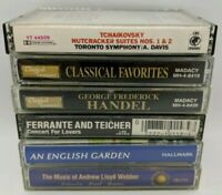 LOT OF 6 CLASSICAL CASSETTE TAPES HANDEL FERRANTE AND TEICHER TCHAIKOVSKY