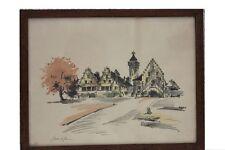 ROBERT KUVEN (1901-1983) - village en ALSACE ORIGINAL-Lithographie
