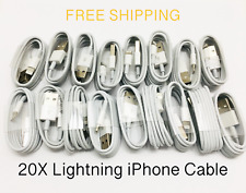 20x Lot of iPhone X 5/6/7/8 Plus Lightning USB Cable Charger Cord Wholesale Bulk