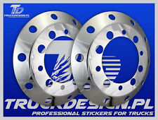 "22,5 "" SET 2x STUD COVERS WHEEL TRIM STAINLESS STEEL: Volvo MAN DAF Scania Iveco"