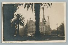Plaza de Mayo BUENOS AIRES Rare RPPC Antique Foto Photo Tarjeta~1920s