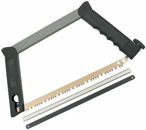 """Outdoor Edge Collapsible Pack Saw, Three 12"""" Blades For Wood, Metal, And Bone"""