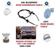 Pour Suzuki Vitara 1.6 16V 1.9D Cabriolet 1990-1999 Adl Arrière Left Frein Main