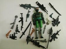 "3.75"" Gi Joe Blue Green Night Creeper with weapons Action Figure  Rare Figure"