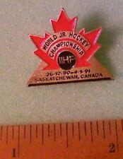 Hockey Pin - 1991 World Junior Hockey Championship Logo