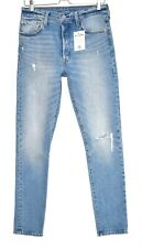 Womens Levis 501 SKINNY High Rise Ripped Blue Stonewashed Jeans Size 10 W29 L32