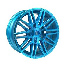 "BK693 Blue 18"" Alloy Wheels Tyres 5x112 8x18 225 40 18 Audi A4 A6 Vw Golf"