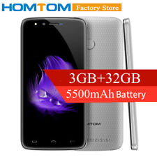 "5500mAh 5.5"" HOMTOM HT50 3GB+32GB 4G Smartphone Android 7.0 13MP Fingerprint OVP"