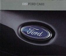 1989 FORD CARS USA RANGE SALES BROCHURE TBIRD TAURUS PROBE MUSTANG TEMPO ESCORT
