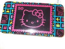 New Women's Girl's Wallet HELLO KITTY   SANRIO  Vinyl Black 50 Anniver