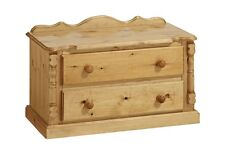 PINE FURNITURE SANDRINGHAM 2 DRAWER CHEST NO ASSEMBLY REQUIRED!!!