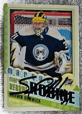 Columbus Blue Jackets Shawn Hunwick Signed 12/13 O-Pee-Chee Marquee Rookie Card