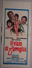 Locandina IL VIZIO DI FAMIGLIA 1°ED.ITALIANA 1975 EDWIGE FENECH RENZO MONTAGNANI