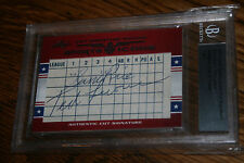 2011 Leaf Prime Cuts Sports Icons Sam Rice & Ted Lyons Auto HOF SP 1/1