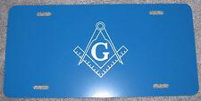 Masonic license plate Blue aluminum auto tag custom personalized vanity