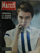 """ MATCH PARIS N° 415 / 23 MARS 1957  "" CHURCHILL - LA GRANDE ELISABETH"