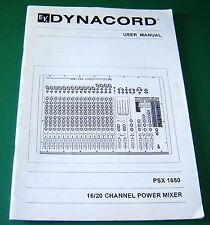 Original Electro-Voice Dynacord PSX1650 Bedienungsanleitung