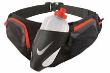 NIKE Large Flask Hydration Running Belt 20 oz Water Bottle Black Orange NEW $45+