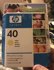 HP 40 51640Y YELLOW INK CARTRIDGE Deskjet 1200 1600 Copyjet  Color Copier 210 Lx