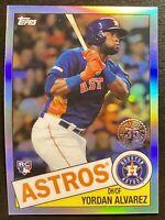 Yordan Alvarez 2020 Topps Chrome RC Houston Astros Rookie #4 1985 ⭐️ SP INSERT