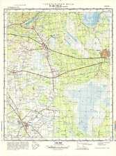 Russian Soviet Military Topographic Maps - SLAMPE (Latvia), 1:50 000, ed.1972