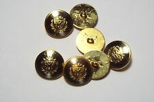 8pc 15mm Gold And Silver German Style Metal Military Blazer Cardigan Button 2870