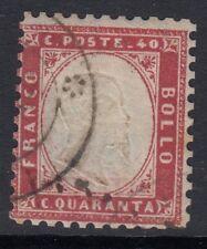 Italie: 1862 40 ° c rose SG 3 utilisées