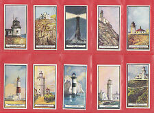 LIGHTHOUSES  -  WILLS  NEW  ZEALAND  -  SET  OF  50  LIGHTHOUSES  CARDS  -  1926