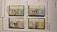ISRAEL MINT STAMP ISSUE MNH, 2002 HISTORIANS SET OF 4 WITH TABS