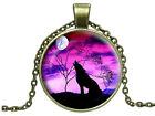 CIONDOLO+CATENINA Lupo Luna Moon Wolf - 4 modelli - collana PAGAN WICCA