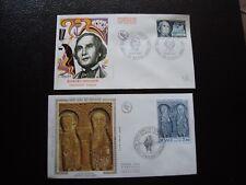 FRANCE - 2 enveloppes 1er jour 1971/1976 (B12) french