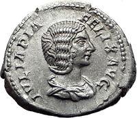 JULIA DOMNA 193AD Rome Authentic Ancient Silver Roman Coin DIANA LUCIFERA i61502